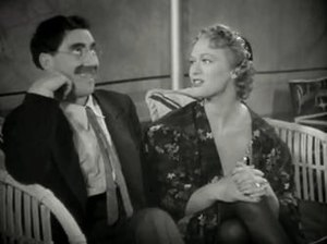 Groucho Marx - Groucho and Eve Arden in a scene from At the Circus (1939)