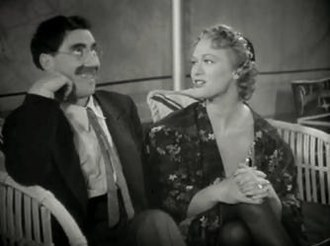 At the Circus - Groucho Marx and Eve Arden in a scene from At the Circus