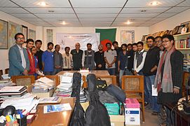 Group photo of Bengali Wikipedians at BNWIKI12 celebration in Chittagong (05).jpg