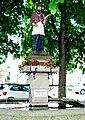 GuentherZ 2011-06-04 0136 Gars am Kamp Hauptplatz Statue Johannes Nepomuk.jpg