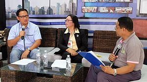 2019 Southeast Asian Games - Provincial Sports Coordinator and Assistant Provincial Administrator Giovanni Gulanes reveals Davao del Norte's bid to host the 2019 Southeast Asian Games at the Kapihan sa Kapitolyo. July 2016.