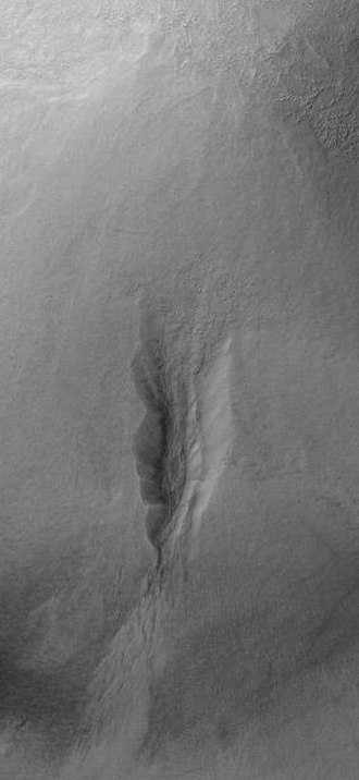 Terra Sirenum - Image: Gully on mound