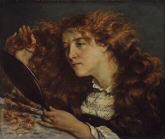 Joanna Hiffernan - Gustave Courbet, La belle Irlandaise (Portrait of Jo) 1865–1866, Metropolitan Museum of Art, a painting of Joanna Hiffernan