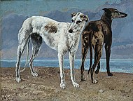 Gustave Courbet - The Greyhounds of the Comte de Choiseul.jpg