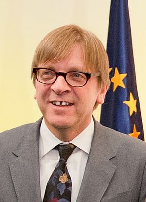 European Parliament election, 2004 (Belgium) - Image: Guy Verhofstadt die 30 Martis 2012
