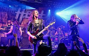 H.E.A.T (band) - H.E.A.T performing in Madrid in 2014