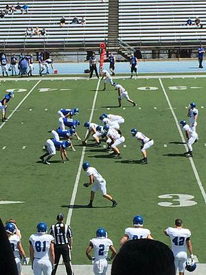 Hillsdale Chargers - The Chargers of Hillsdale College in the 2016 spring game