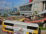 HK Sheung Wan 信德中心 Shun Tak Centre Bus Terminal Connaught Road Central Bus body ads 施羅德集團 Schroders April 2013 ICC.JPG