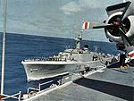 HMCS Margaree (DDE 230) refueling from USS Hornet (CVS-12) c1963.jpg