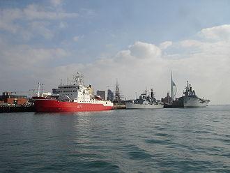 HMS Endurance (A171) - Image: HMS Endurance Portsmouth 2
