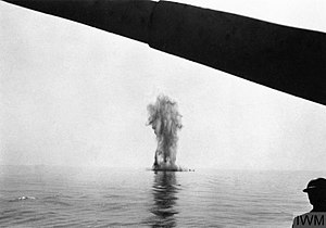 E and F-class destroyer - Foresight being scuttled, 12 August 1942