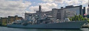 HMS St Albans (F83) - Image: HMS St Albans at South Quay