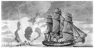 Sir Charles Pole, 1st Baronet - The action of 16 March 1782 at which Pole captured and then destroyed the Spanish frigate ''Santa Catalina'' in the Strait of Gibraltar