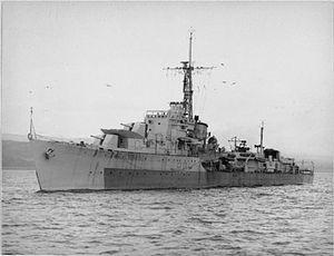 W and Z-class destroyer - Image: HMS Zebra