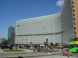 The Berlaymont, the main office building of th...