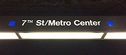 HSY- Los Angeles Metro, Blue Line, 7th Street-Metro Center, Signage