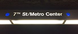 HSY- Los Angeles Metro, Blue Line, 7th Street-Metro Center, Signage.jpg