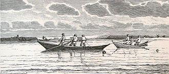 Fishing industry in Denmark - Snurrevodsfiskere in Limfjord, 1893