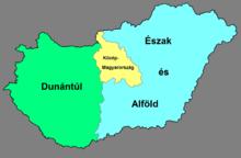 Suddivisione NUTS 1 dell'Ungheria