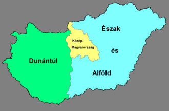 NUTS statistical regions of Hungary - NUTS 1 regions of Hungary