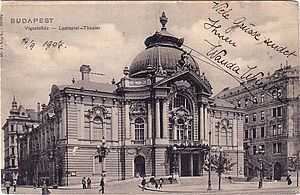Comedy Theatre of Budapest - The Comedy Theatre in 1904