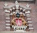 Haarlem - Nieuwe Kerk - relief toren Lieven de Key 1613.jpg