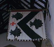 Hagley, St John the Baptist - interior, 1st Visc Chandos' Garter Banner - photo 2 cropped