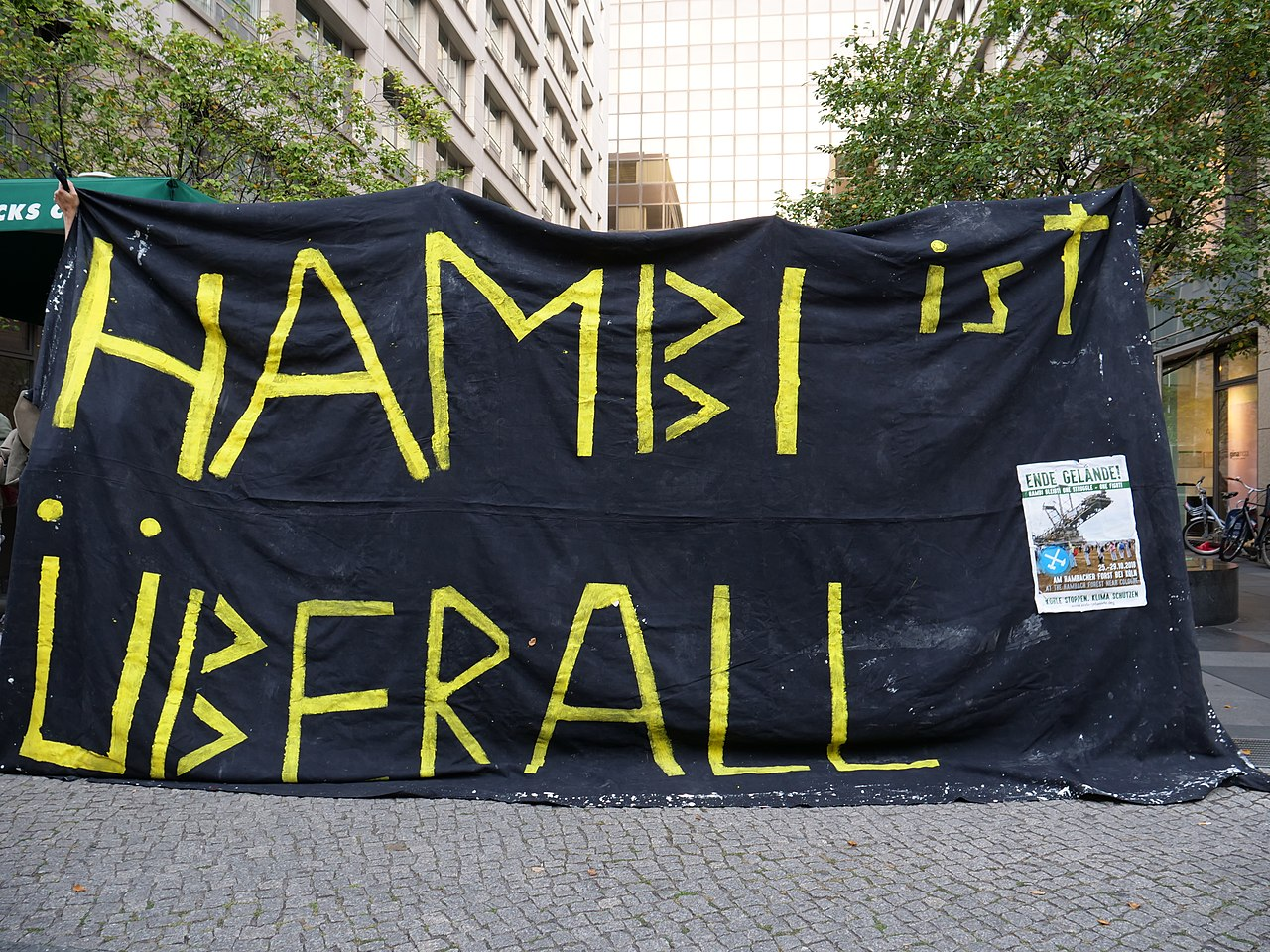 Hambach Forest solidarity protest in front of RWE office in Berlin at 17th of September 2018 11.jpg
