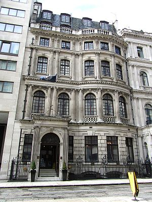 Royal Aeronautical Society - The Society's headquarters at No.4 Hamilton Place in London