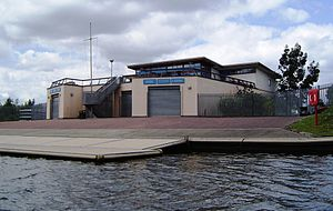Hampton School Boat Club - Image: Hampton School Millennium Boathouse