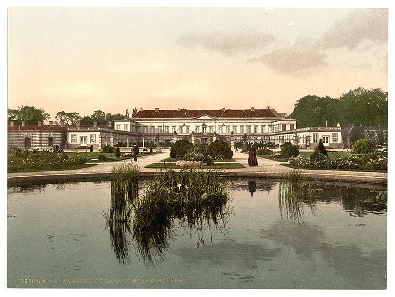 Hannover Schloss zu Herrenhausen (um 1895).jpg