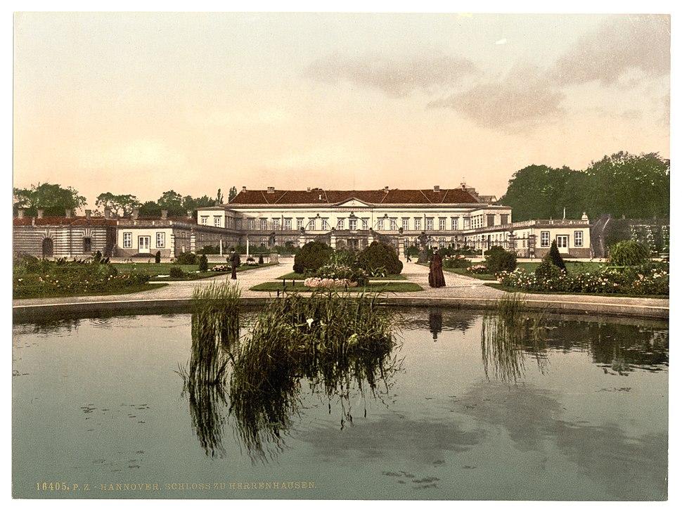 Hannover Schloss zu Herrenhausen (um 1895)