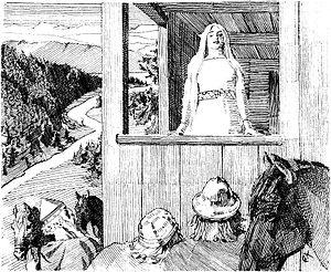 Christian Krogh: Illustration for Harald Hårfa...
