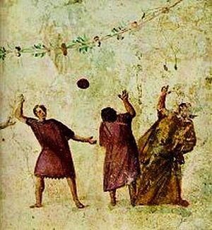 Early history of American football - Harpastum, a form of ball game played in the Roman Empire.