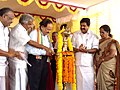 Harsh Vardhan along with the Chief Minister of Kerala, Shri Oommen Chandy lighting the lamp to inaugurate the Dual Energy Linear Accelerator and upgradation of the Regional Cancer Center to State Cancer Institute.jpg