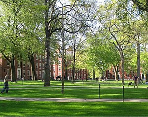 Harvard College - View of freshman dormitories in Harvard Yard