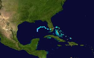 Tropical Storm Harvey (1999) - Image: Harvey 1999 track