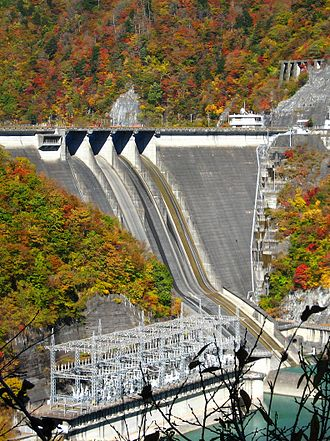 Shizuoka, Shizuoka - The hydroelectric Hatanagi-I Dam—tallest concrete gravity dam in the world
