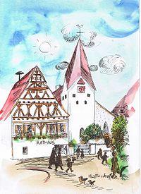 Hattenhofen Margret Hofheinz-Döring colorierte Zeichnung.jpg
