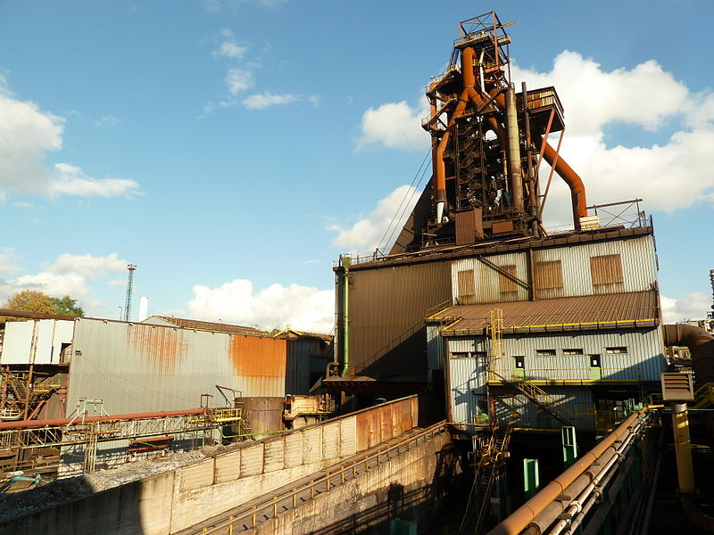 Patural Blast furnace P6, at Hayange, Moselle, France.