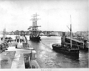 Havre binnenkomst driemaster.jpg