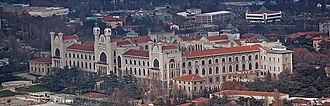 Marmara University - Imperial College of Medicine, currently the Haydarpaşa Campus of Marmara University in the Kadıköy district of Istanbul. The building was designed by architects Alexander Vallaury and Raimondo D'Aronco.