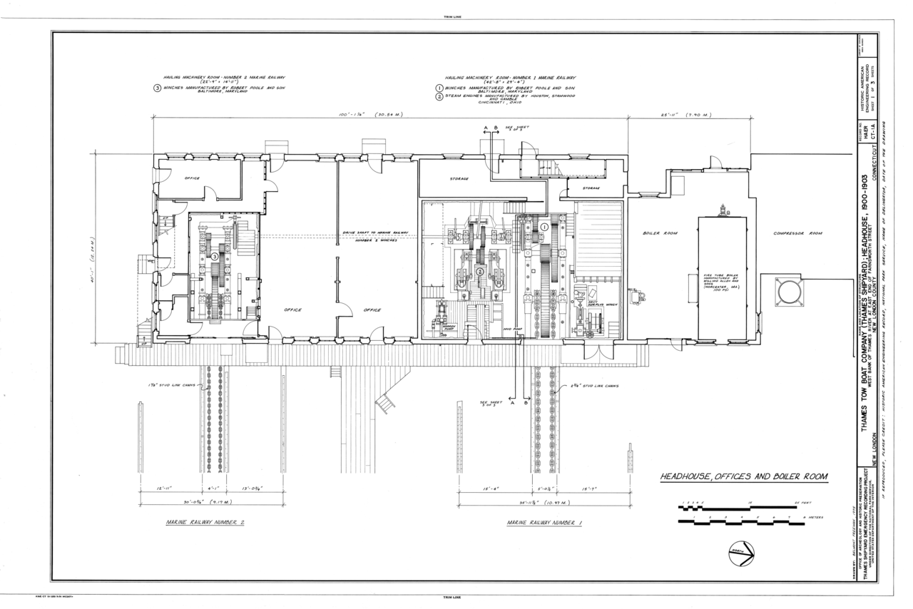 File:Headhouse, Offices Boiler Room, Floor Plan - Thames Tow Boat Company, Headhouse, Uncasville ...