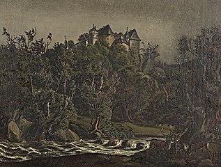 Landschaft mit Schloß