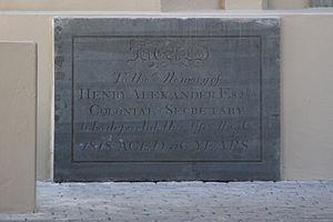 Henry Alexander (Irish politician) - Alexander's gravestone, Groote Kerk, Cape Town