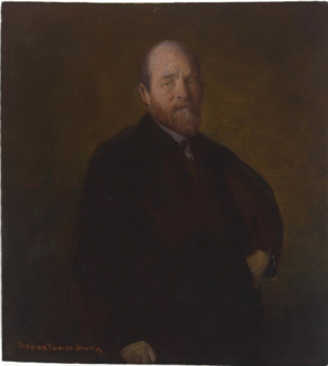 George de Forest Brush - Artist: George de Forest Brush, Sitter: Henry George, Date: 1888