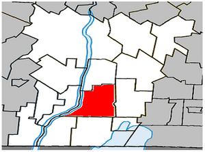 Henryville, Quebec - Image: Henryville Quebec location diagram