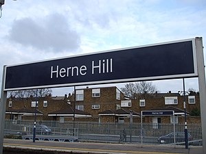 Herne Hill Flood As Water Mains Burst