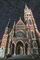 Herz Jesu Kirche Fassade Nacht.tif