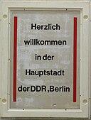 Herzlich willkommen in der Hauptstadt der DDR Berlin